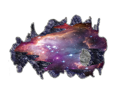StreetDeal Home Decor Deal: Creative 3D Galaxy Space Falling Stone Wall Decor Sticker