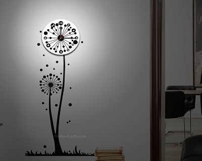Discounts/Deals/Saving/Sales/ - Wall clock with LED light and Sticker