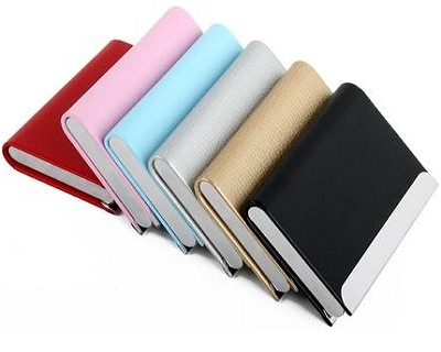 StreetDeal Fashion & Accessories Deal: Magnetic Leather Name Card Holder