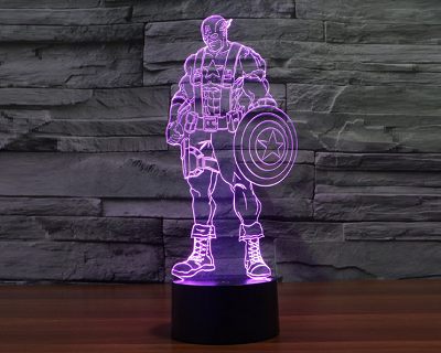 StreetDeal Home Decor Deal: Captain America Colorful LED