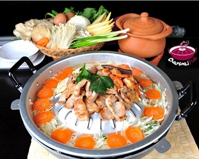 1 PAX of Mookata Set Lunch at Charcoal Thai - Includes Chicken, Pork, Squid, Prawns &...
