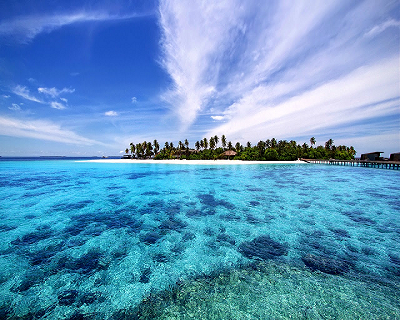 $ 557 All Inclusive, you get a return Singapore Airlines Flight to Maldives...
