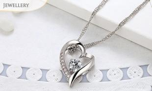 84% off Stylish Sweet-Heart Necklace made with Swarovski Elements