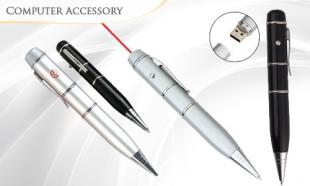 79% off 3-in-1 Pen USB Flash Driver (16GB) with Red Laser (BLACK / SILVER)