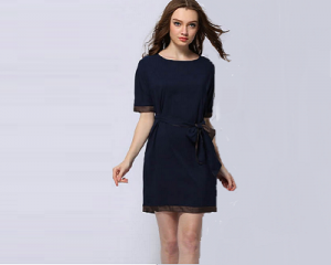 Casual Tie-Waist Dress (OBTO 1 05)