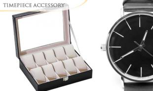 80% off Elegant Watch Storage & Display Case with 10 Slots + FREE Courier Delivery