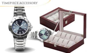 83% off TWO (2) Elegant Watch Storage & Display Cases with 10 Slots + FREE Courier Delivery