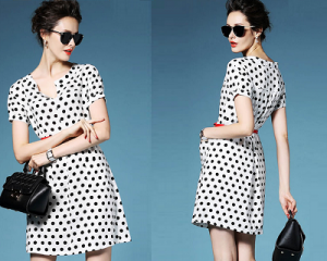 Tara Dress in Polka Dot Print(OBTO 2 07)