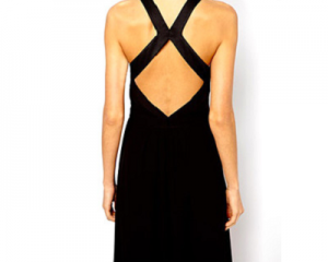 Cross Back Chiffon Dress