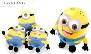 UP TO 65% off Set of 3 Despicable Me Plush Toys (2D Eyes OR 3D Eyes) + FREE Delivery
