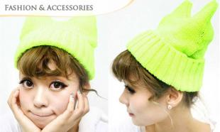 57% OFF K-POP Celebrity's Fashion Cat Beanie. Available in 12 Vibrant Colours!